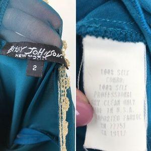 Betsey Johnson Dresses - Vintage Betsey Johnson Long Silk Lace Maxi Dress